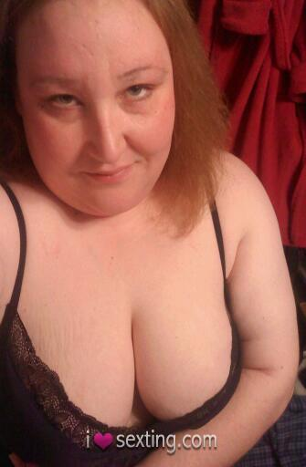 Free Sexting Pic Female White Tits Blonde Self Shot BBW